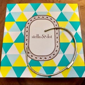 Stella and Dot Delicate brushed silver bracelet